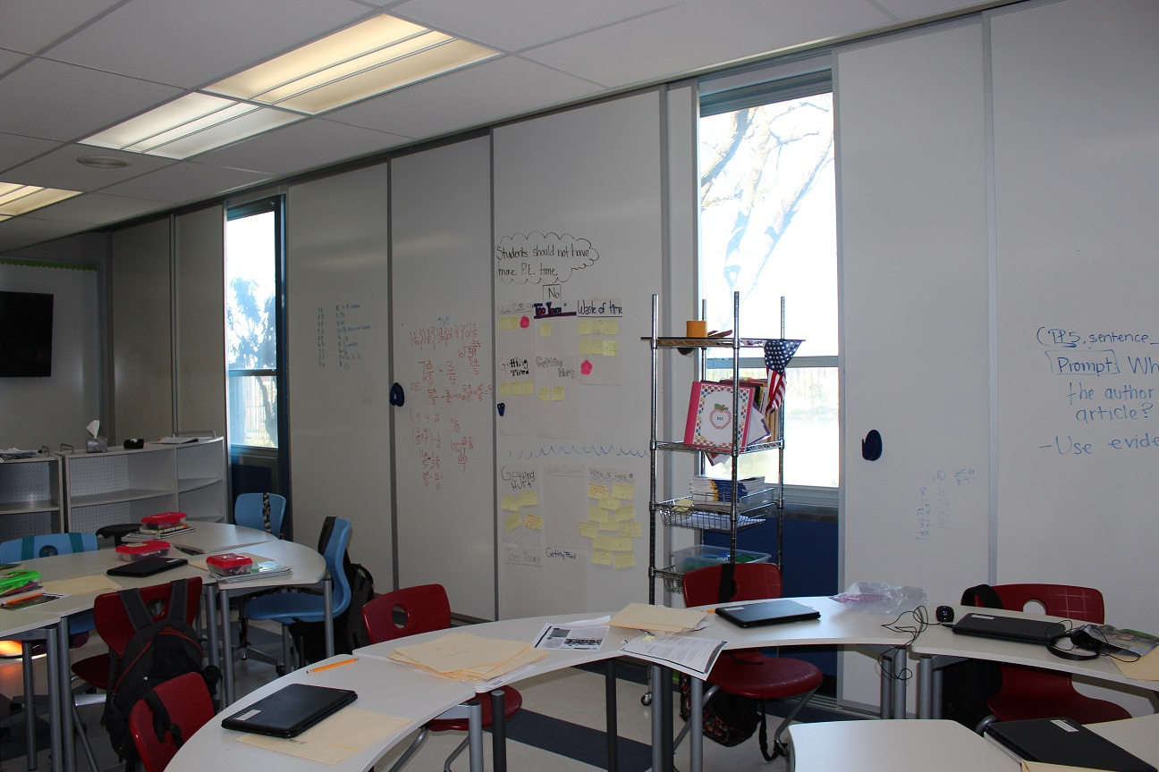 Sliding Whiteboards